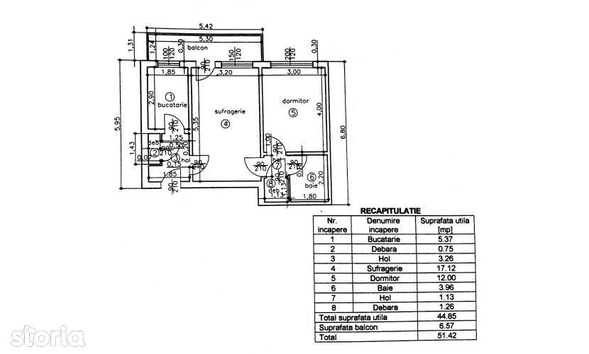 Vanzare: Apart 2 camere, conf1, et Parter, Vest, 88496