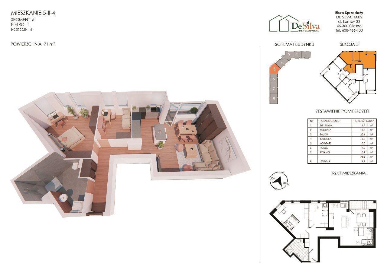 Mieszkanie 3-pok w nowym bloku garaż podziemny 524