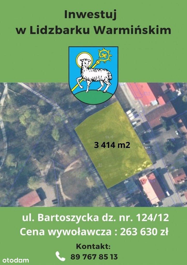 Działka, 3 414 m², Lidzbark Warmiński