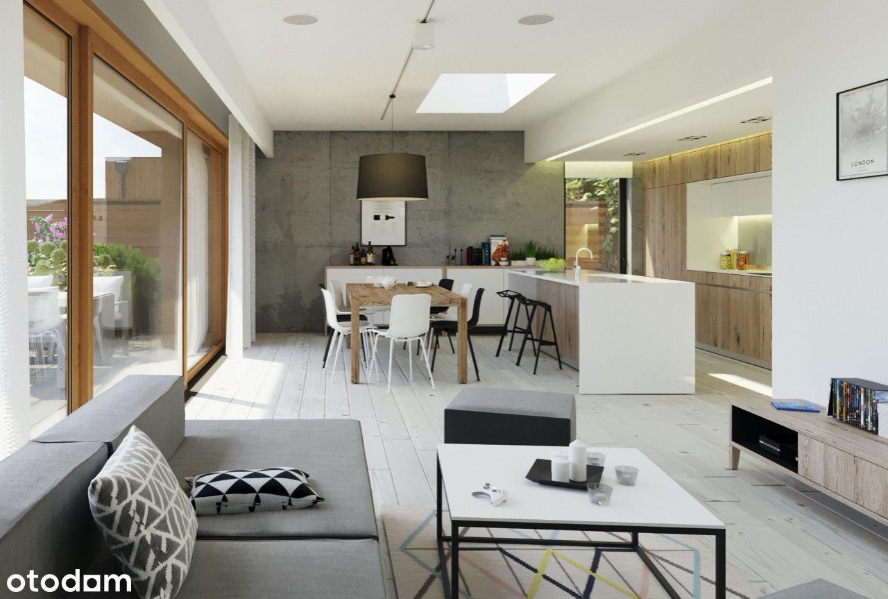 nowoczesny apartament z dwoma tarasami
