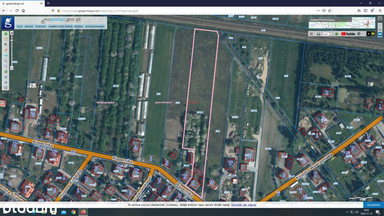 Działka 6000 m2 , Września ul.Kopernika 11