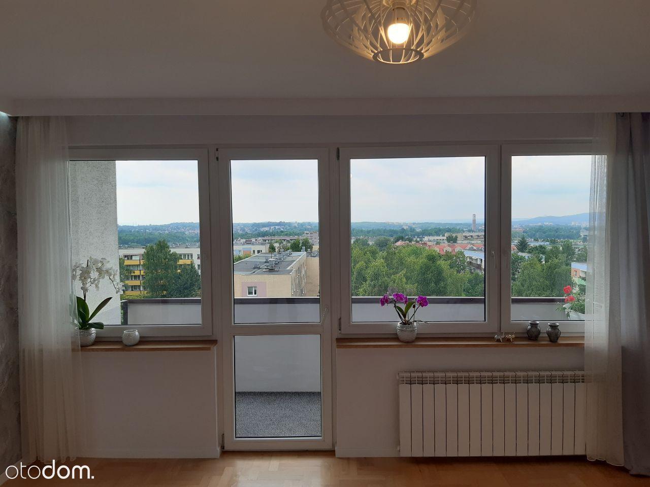 Stylowe mieszkanie z widokiem na panoramę Krakowa