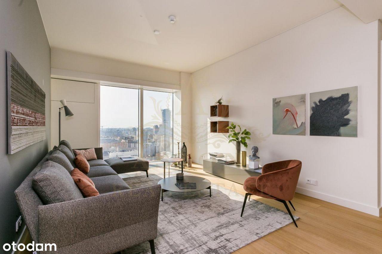 Luksusowy apartament z 2 sypialniami na Złotej 44