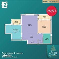 LĂPUŞ Residence - Apartamente De LUX - Apartament 2 camere - Tip 2 +