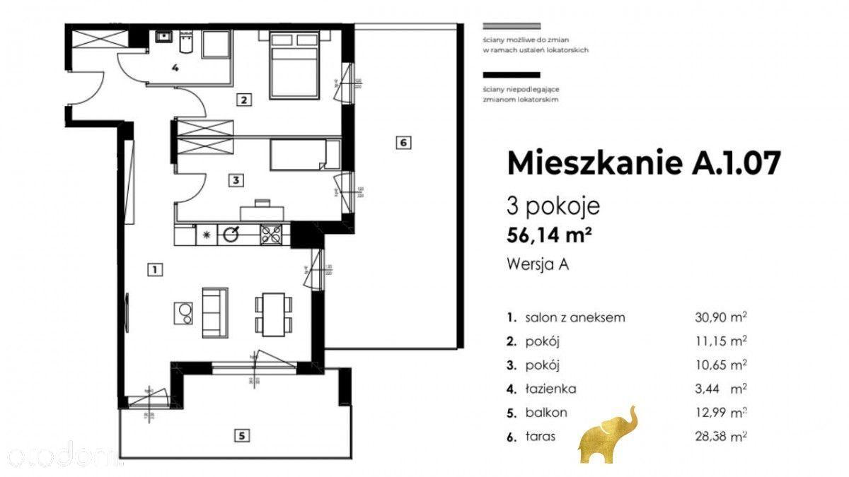 3pok/Taras 40m2/ Duży salon, Włochy, Bardzo Ciche!