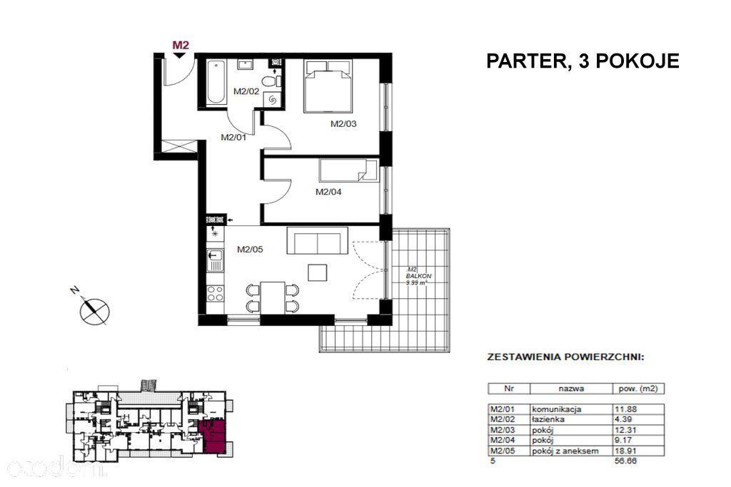 Funkcjonalne 3-pokojowe mieszkanie!