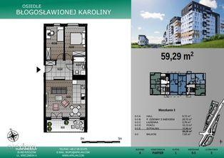 Osiedle Karoliny nowe mieszkanie 3-pokojowe