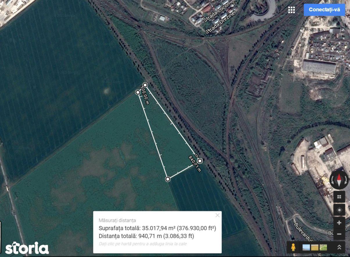 Vanzare teren Ploiesti, zona Vest, 35.000 mp, comision 0%
