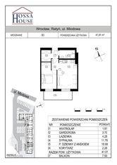 B3 - 2 pok. - 42m2 + balkon 7,5 m, 2p./2p.