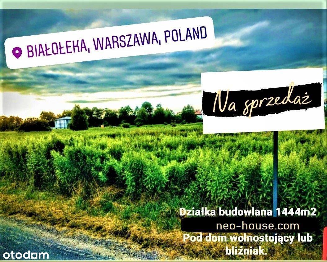 Białołęka 1444m2 WZiZT pod blizniak