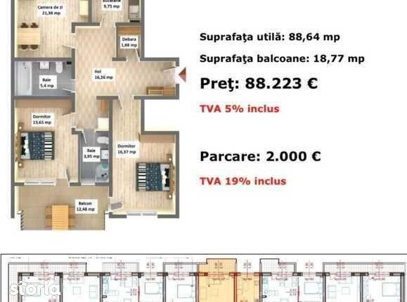 Apartament 3 camere, ARCA Residence