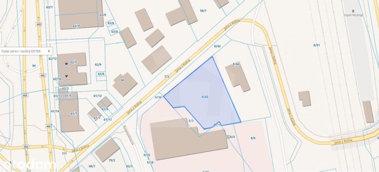 Działka, 1 310 m², Sopot