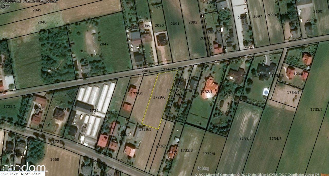 Działka budowlana w Rzgowie, 2100m2, ul. Gliniana