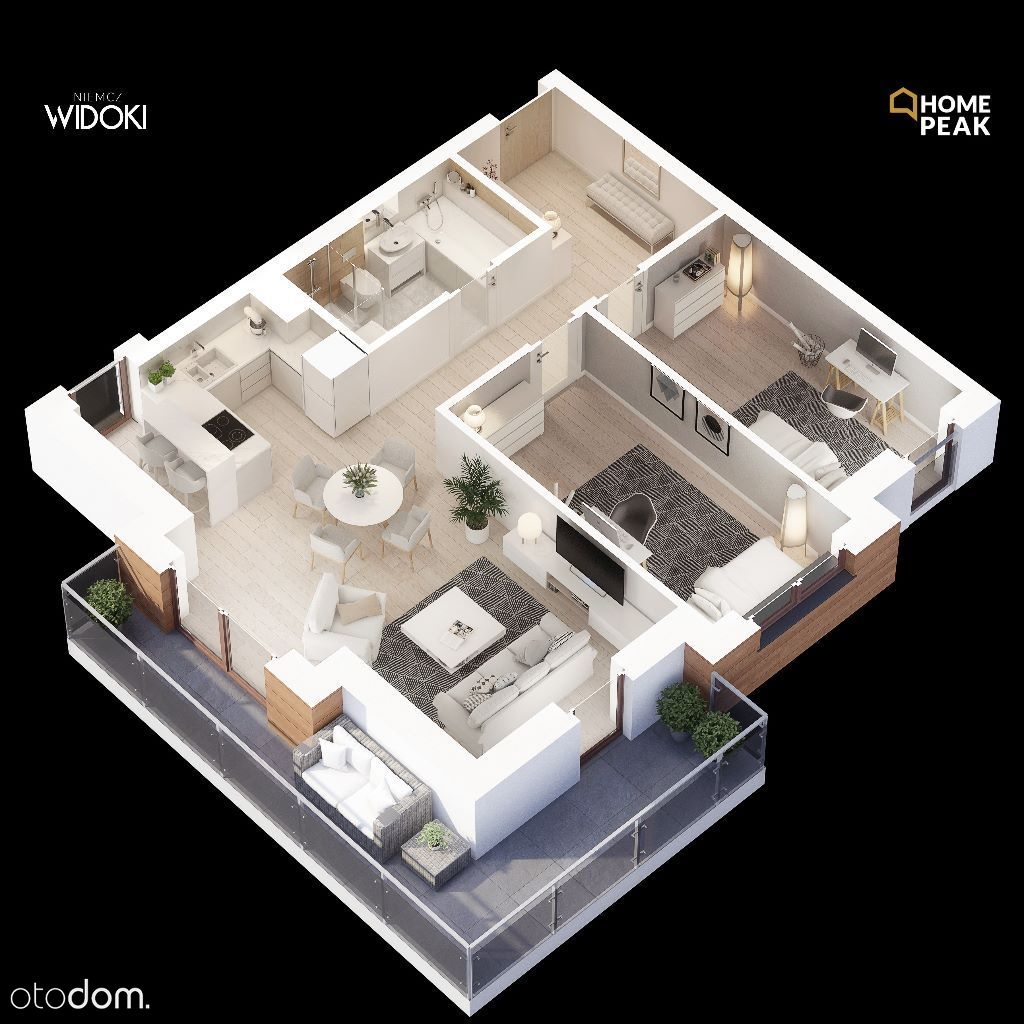M. 69,32 m2 3Pokoje z Tarasem 16 m2 Os. Widoki