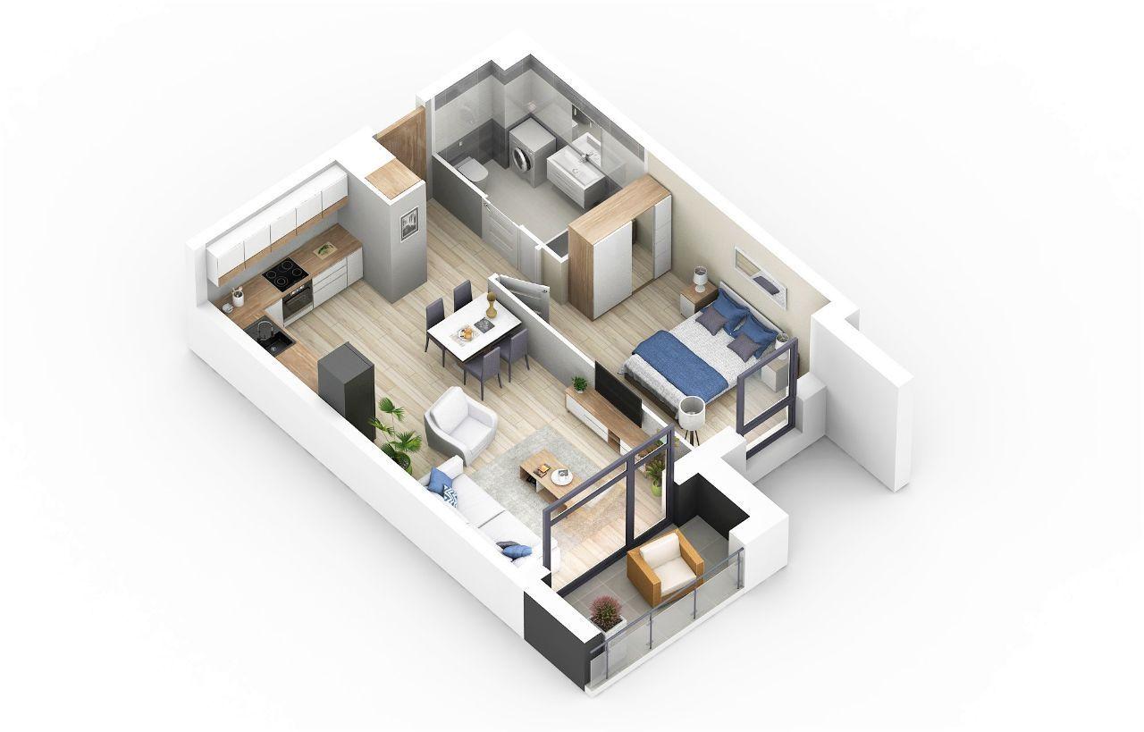 Nowe 2 pokoje na nowoczesnym osiedlu