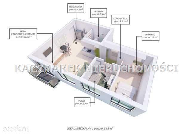 Mieszkanie, 55 m², Bieruń