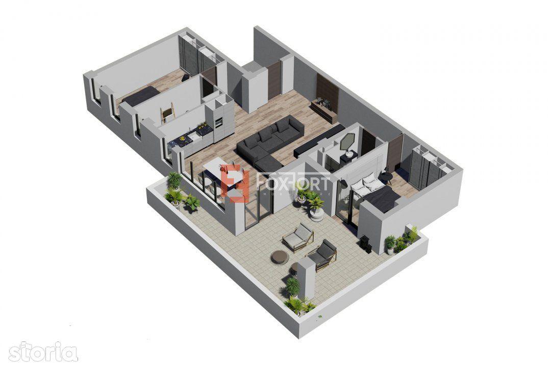 Penthouse cu 3 camere intr-un Complex Nou si Modern in Giroc - V1670