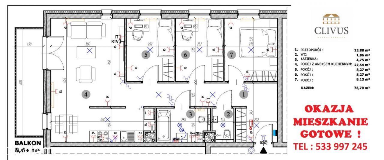 Nowy apartament przy Jemiołowej ! Okazja na już !