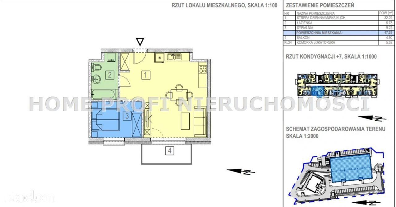 Dwupokojowe mieszkanie ul. Bałtycka - 335 000zł