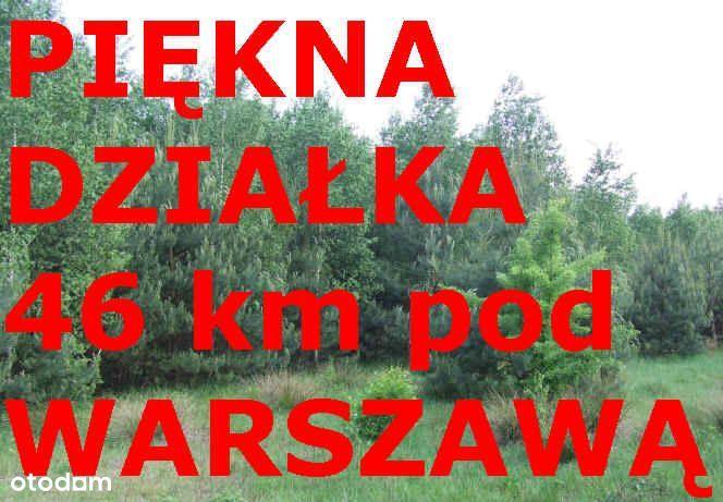 Piękna działka Nowe Kościeliska 40 km pod Warszawą