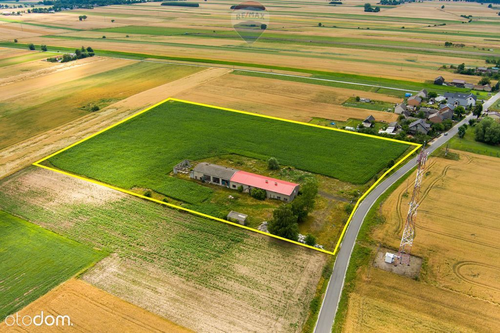 Nieruchomość gruntowa 3,16 ha - zbudowana