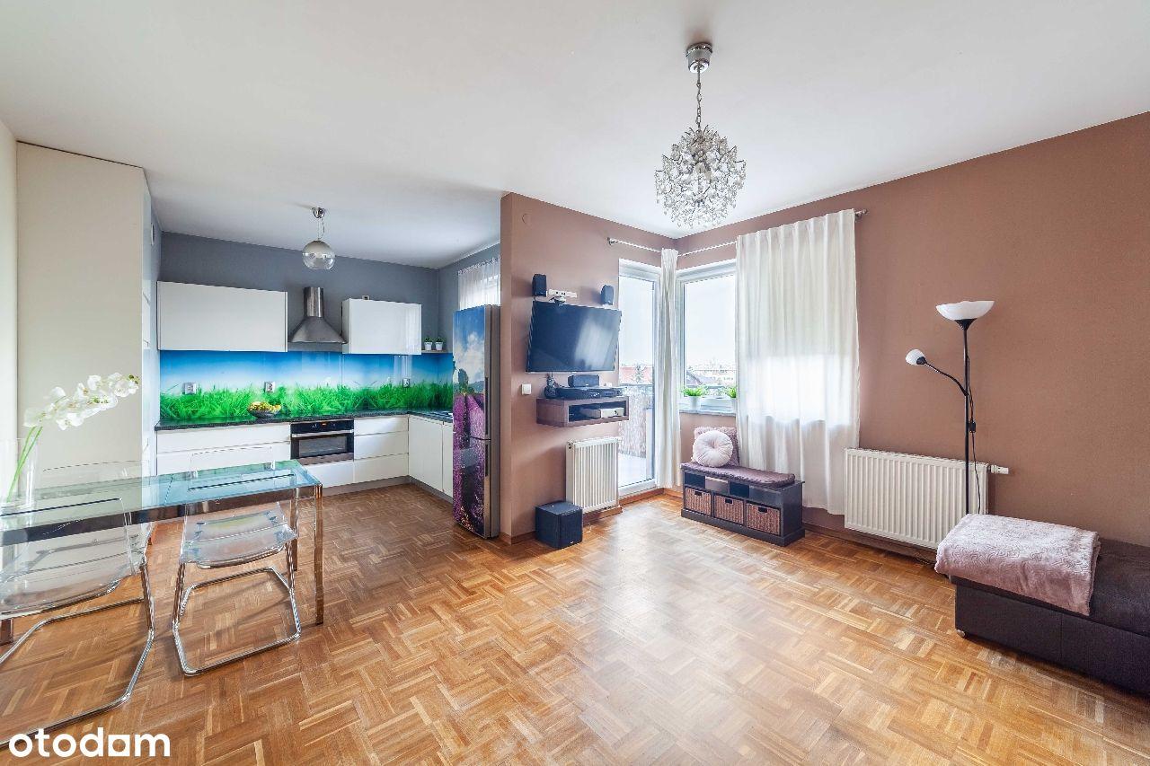 2 pokoje, duży, słoneczny balkon