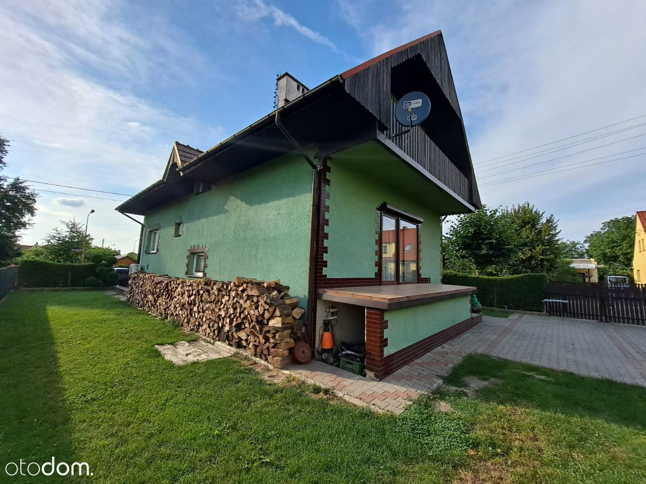 Dom jednorodzinny bez pośredników zielone ogrody