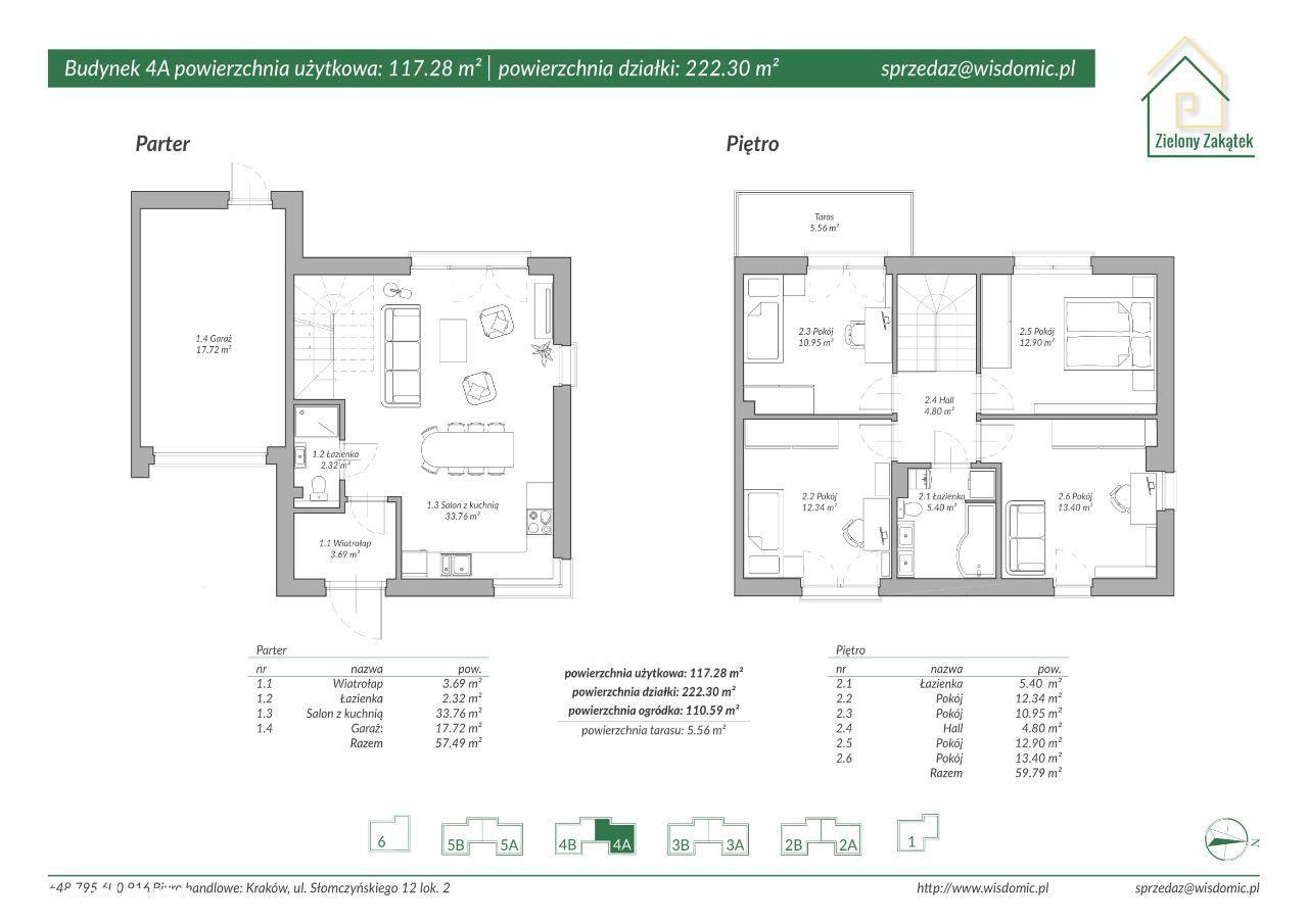 Dom, 117,28 m², Kraków