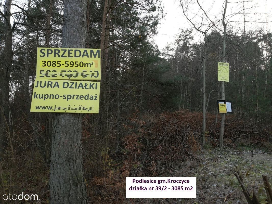 Jura działka 3085 m2 blisko Góry Zborów