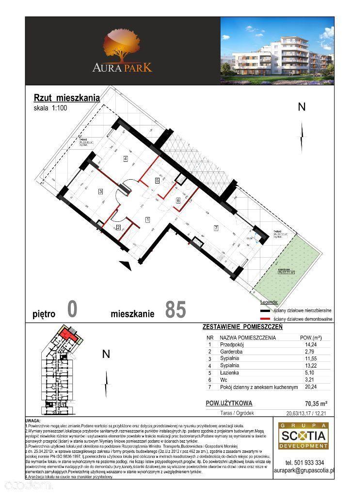 3 pokoje + aneks kuchenny - Aura Park Płońsk