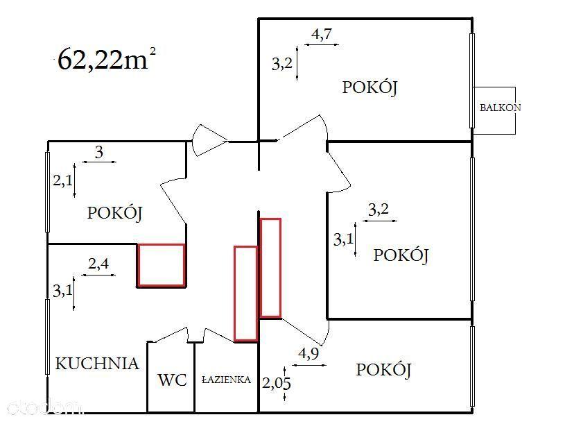 4-pokojowe, bezpośrednio, 62m², Bełchatów PILNIE