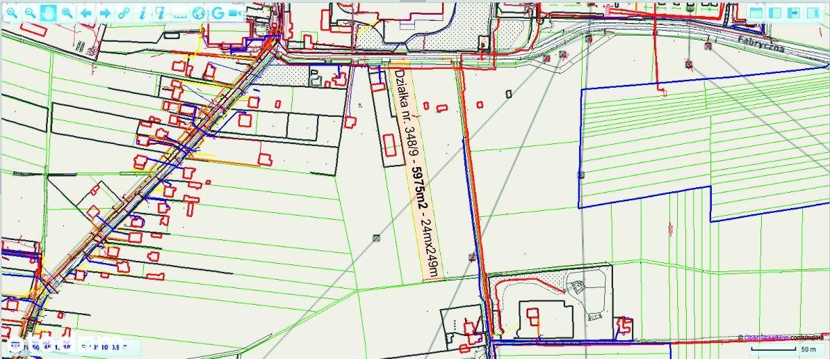 Działka budowlana 24x249 Wrzosowa k. Częstochowy