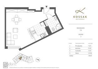Kossak Residence Apartament Nad Wisłą 39m