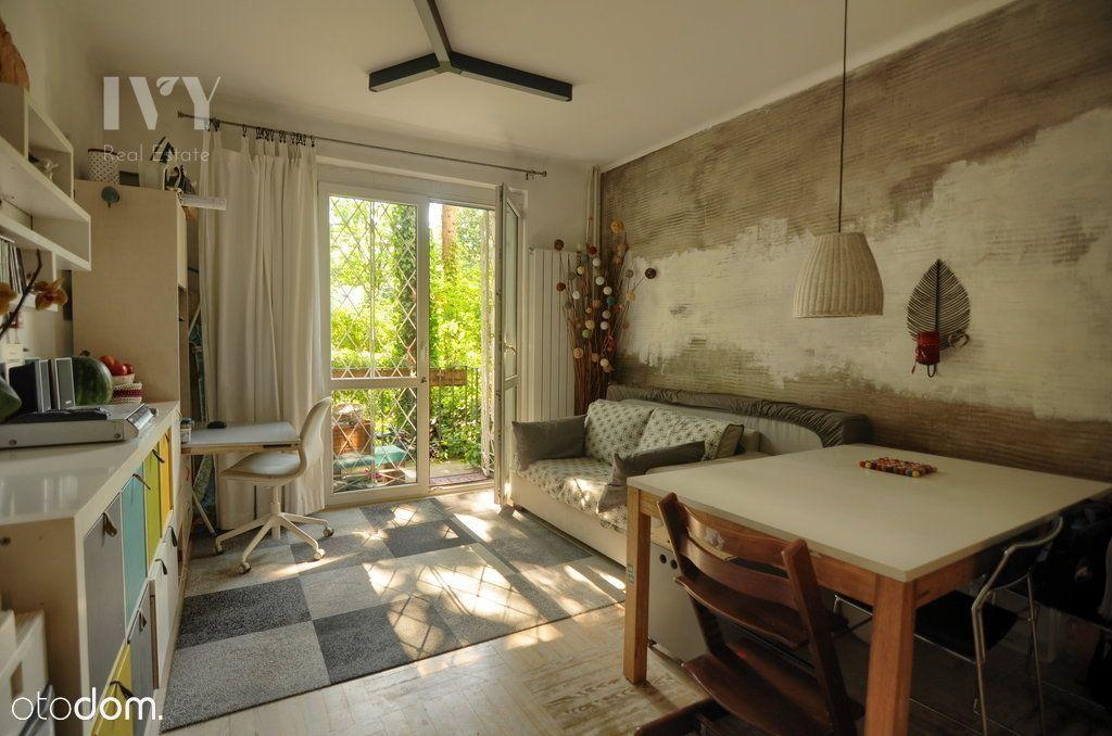 Dwupokojowe mieszkanie z ogródkiem na Mokotowie