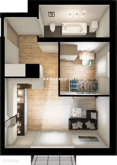 Mieszkanie, 40,50 m², Kraków