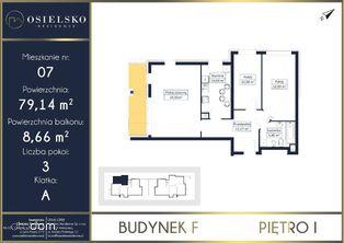 Apartament w Osielsku 79 m2 3 pokoje