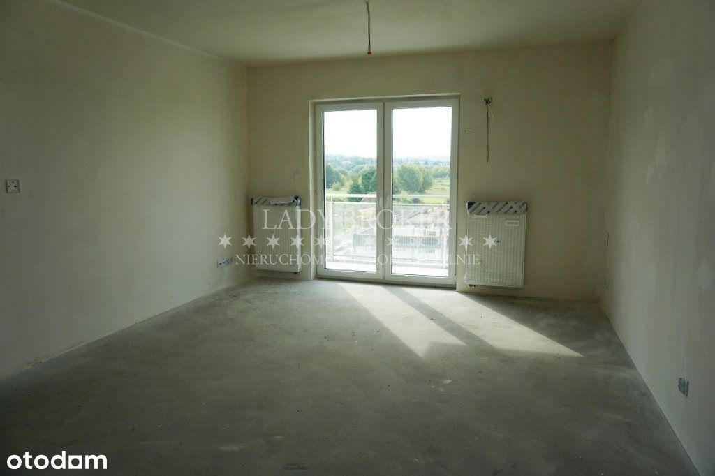 2 pokoje w stanie deweloperskim * balkon * Miła