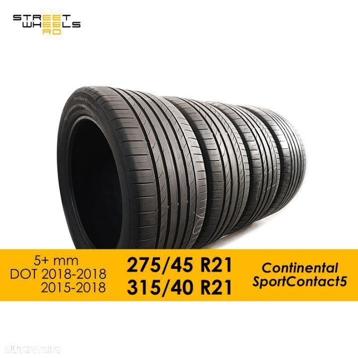 275/45 R21   315/40 R21 Continental SportContact 5 Mercedes GLE 315 275 40 45 21 - 1