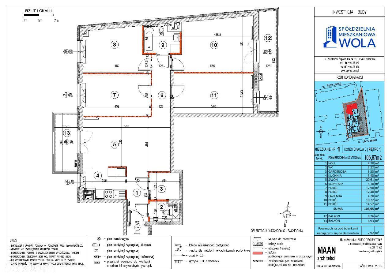 5 pokojowe mieszkanie Bemowo z dwoma balkonami