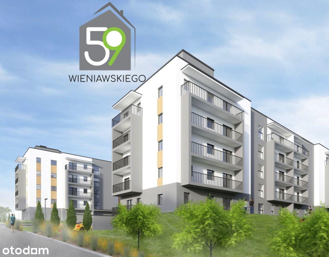 3-pokoje z jasną kuchnią - DOMEX Wieniawskiego 59