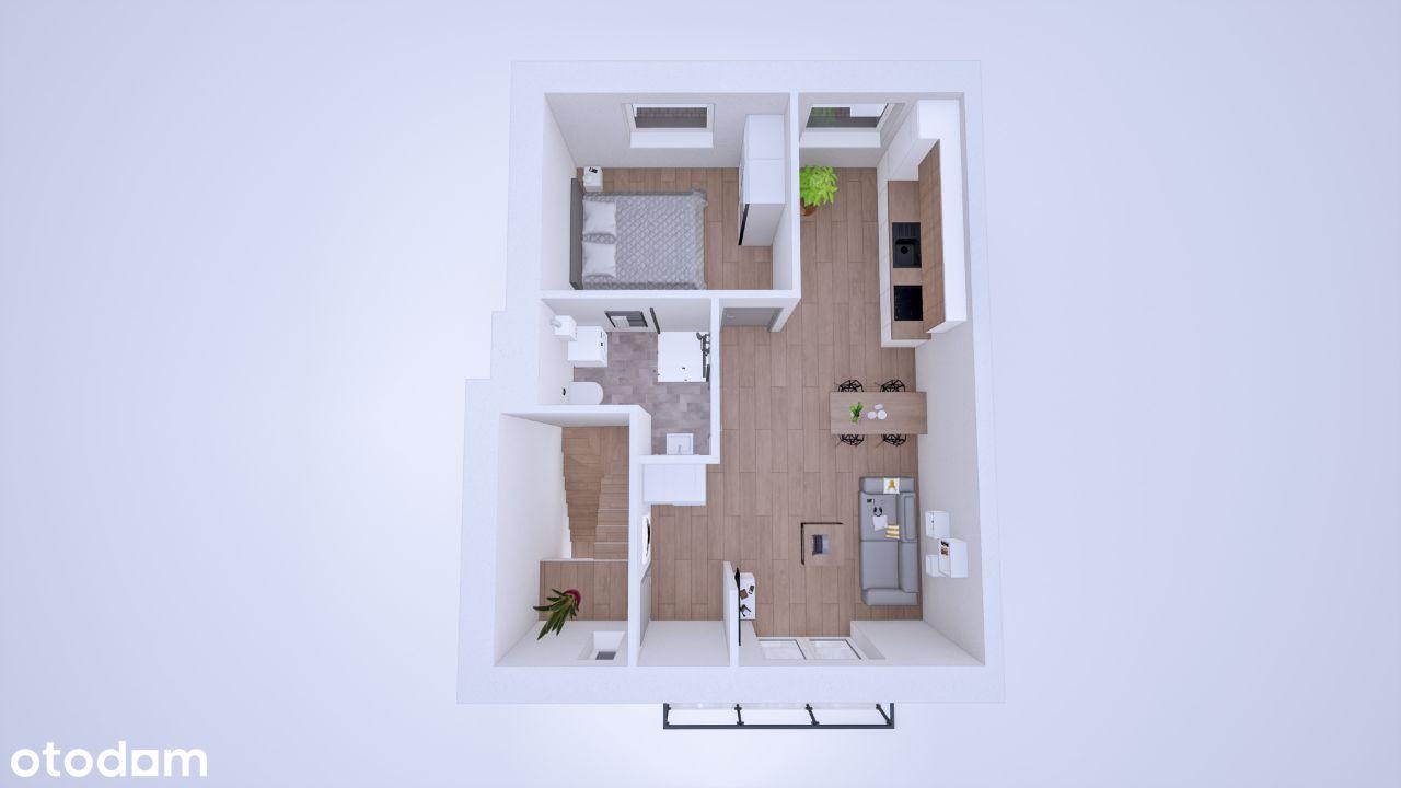 Bezczynszowe , 2 pokojowe, piętro +balkon+ ogródek