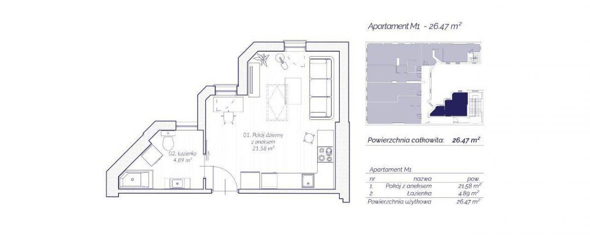 Apartament z widokiem na Wawel / Dietla