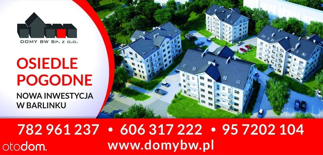 Nowe 3 pokojowe mieszkanie w Barlinku