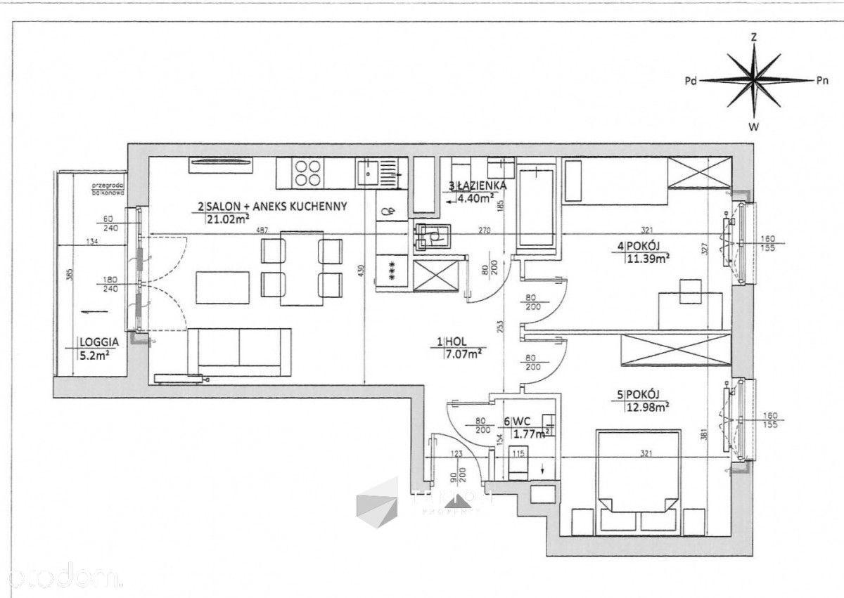 3 - pokojowe mieszkanie w apartamencie Rose