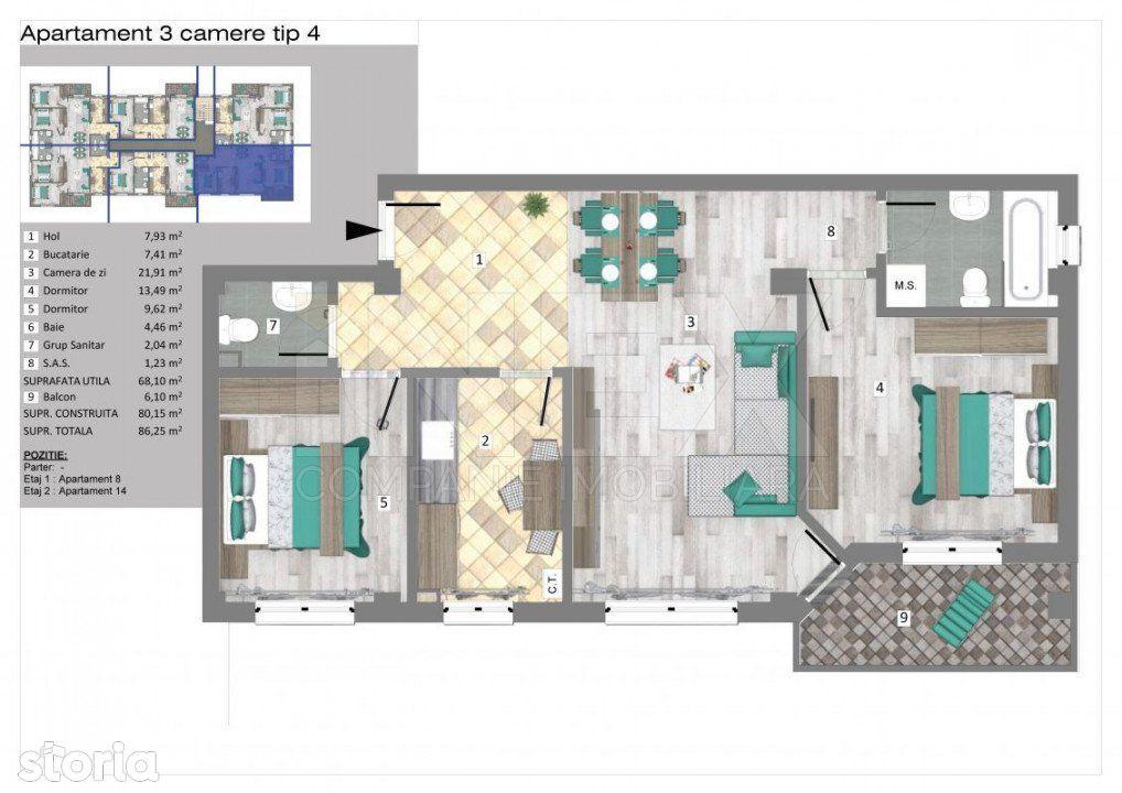 iNEX.ro | Apartamente 3 camere in Trivale Park | 3C4