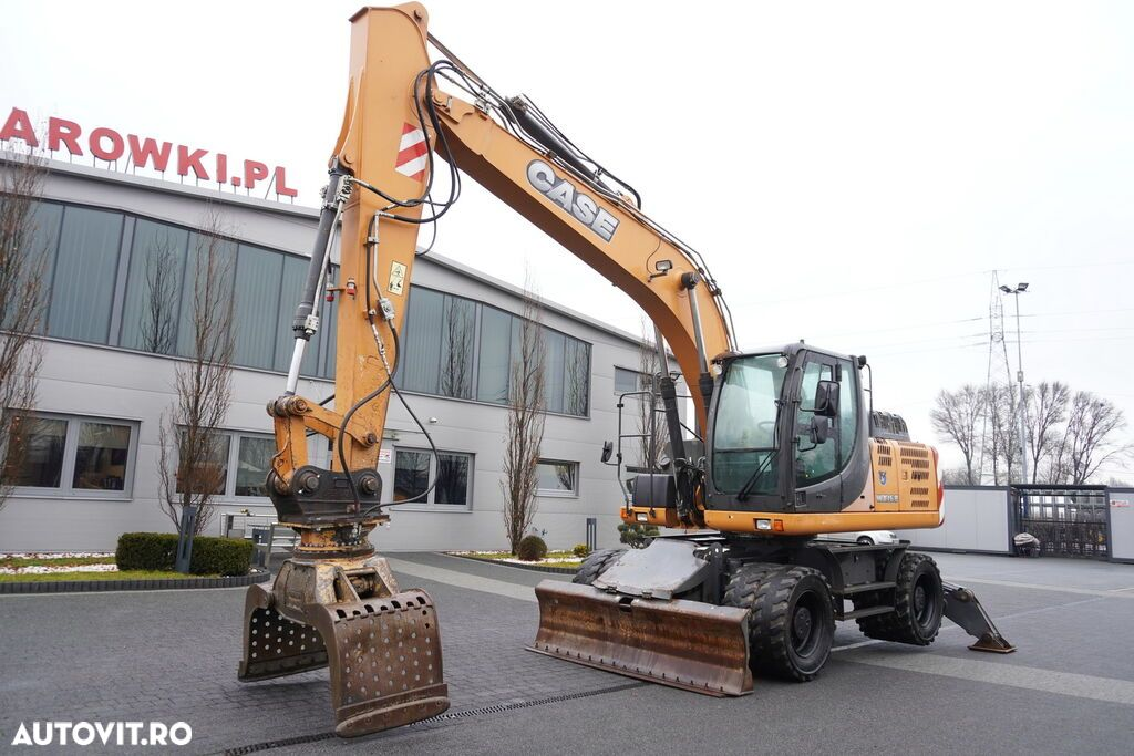 Case WX 168 , 18t , rotator ,grapple , blade ,supports , joystick , A - 14