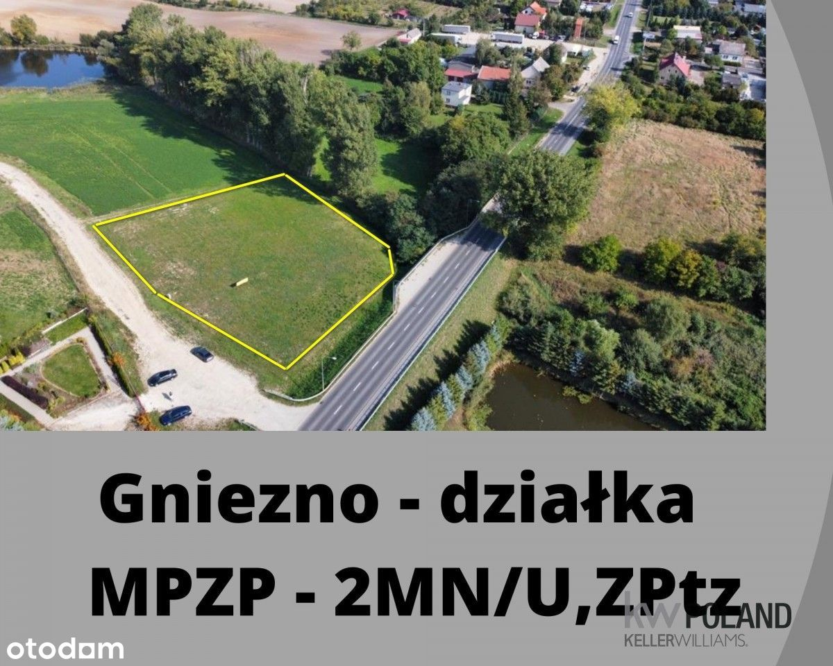 Działka Mpzp Gniezno usługowo-mieszkaniowa