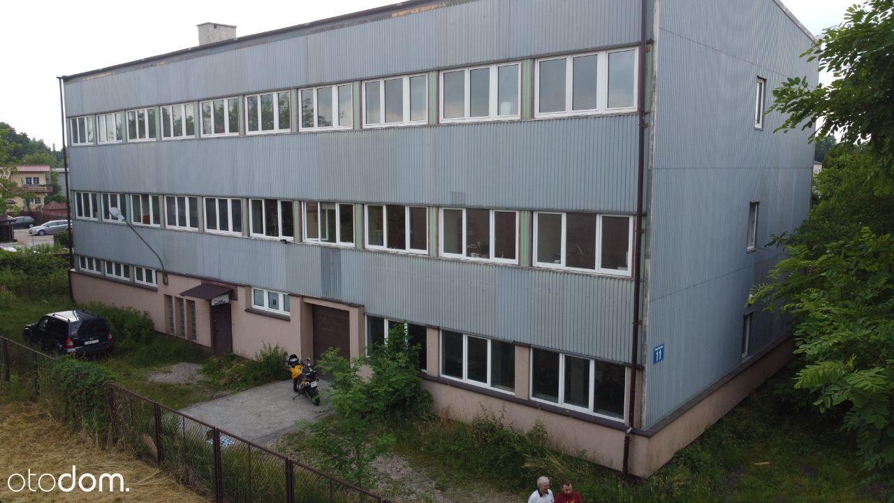 Działka budowlana z budynkiem produkcyjno-usługowy