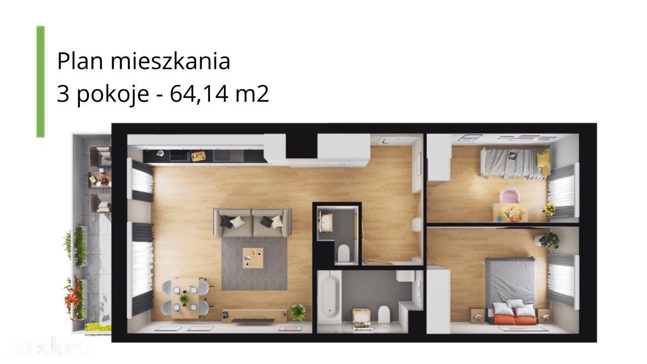 Mieszkanie, 64 m², Warszawa