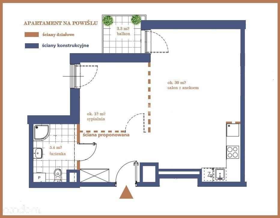 apartament-studio lub 2 pokoje*Powiśle*przy metrze
